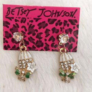 Adorable Betsey Johnson Bird Cage Earrings!